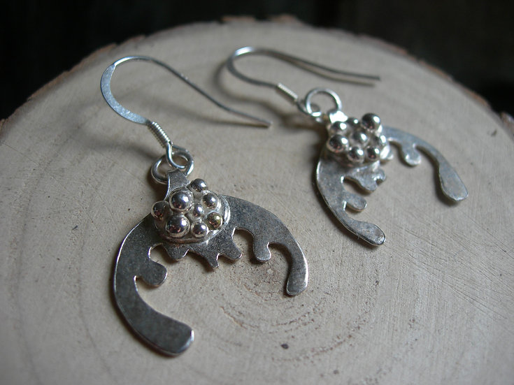 Splash earrings. Sterling silver
