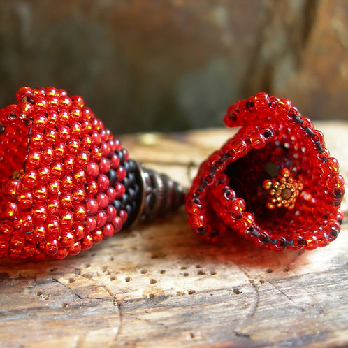 Poppy earrings.
