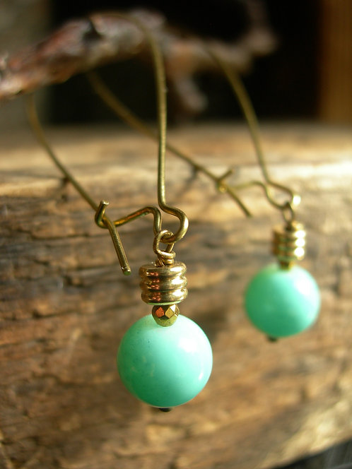Light bulb earrings. Turquoise.