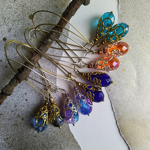 Long Bubbly earrings.