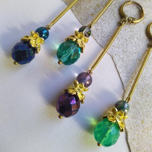 Lotus earrings.