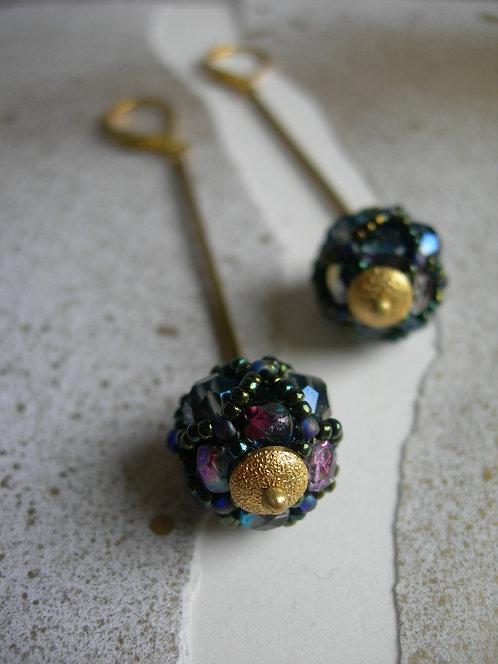 Glass lantern earrings