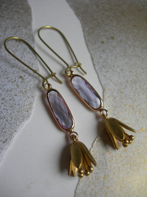 Snowdrop earrings. Lilac