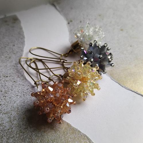 Dandelion earrings.
