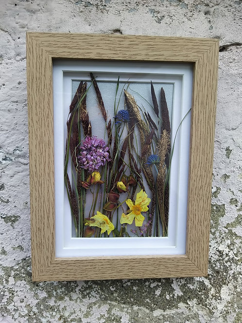 Wildflowers in a Field. Framed botanical Art