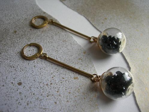 Candy earrings. Black