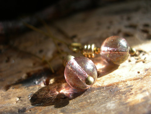 Light bulb earrings. Pale Pink