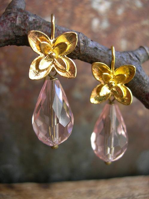 Blossom earrings. Pink