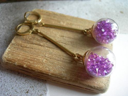 Candy earrings. Fuchsia