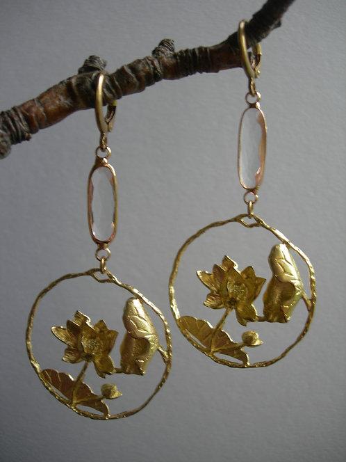 Pond earrings. Crystal clear