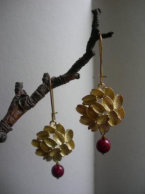 Fruit tree earrings. Apple