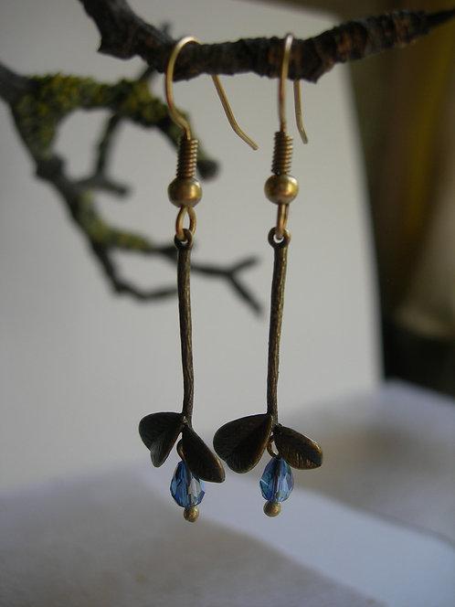 Spring leaves earrings