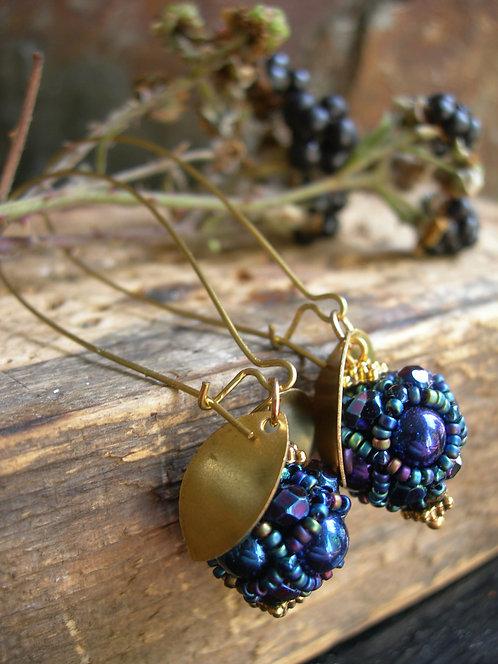 Wildberry earrings. Metallic Iris