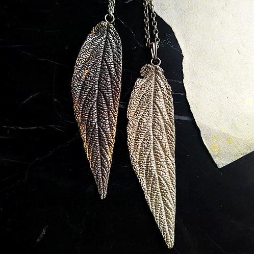 Leaf pendant. Sterling silver