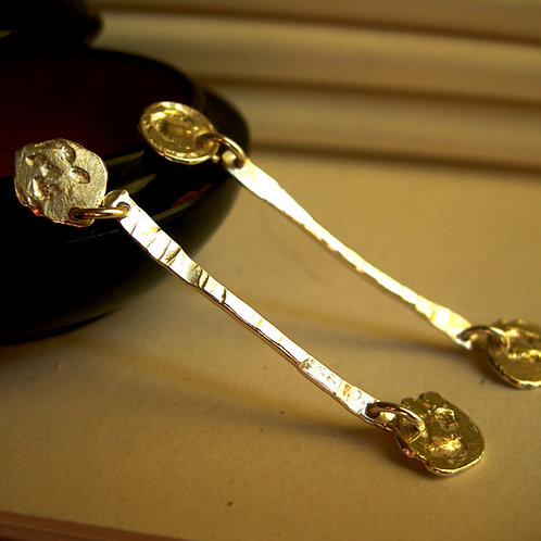 Long stem earrings