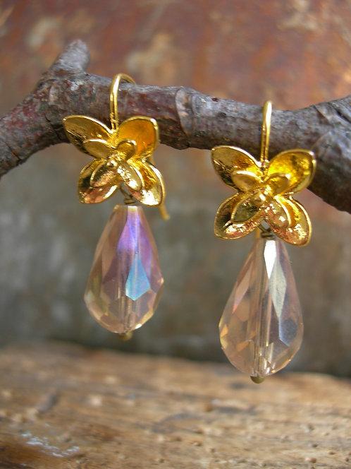 Blossom earrings. Champagne