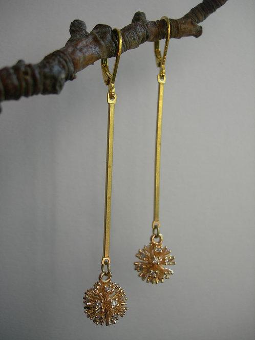 Allium earrings.Clear