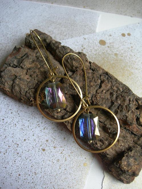 Geometry earrings. Purple