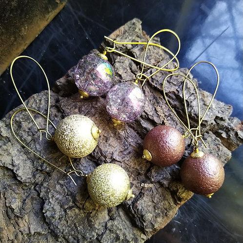 Orb earrings. Medium or long