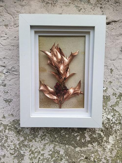 Copper Holy. Framed botanical Art