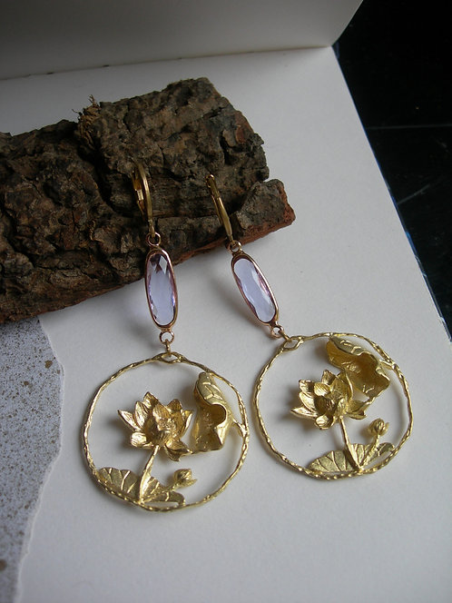Pond earrings. Pale lilac