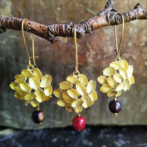 Fruit tree earrings.