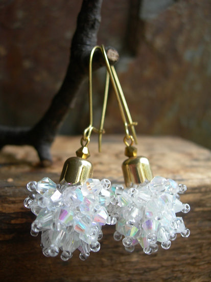 Dandelion earrings. Clear