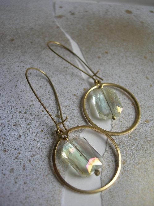 Geometry earrings. Citrine