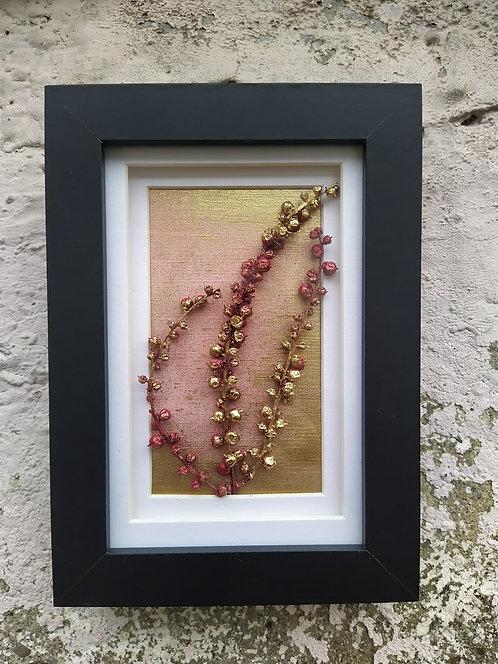 Winter Berries. Framed botanical art