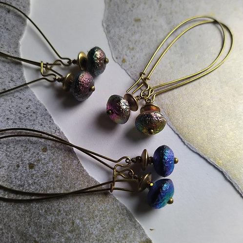 Flying saucer earrings. Style 1.