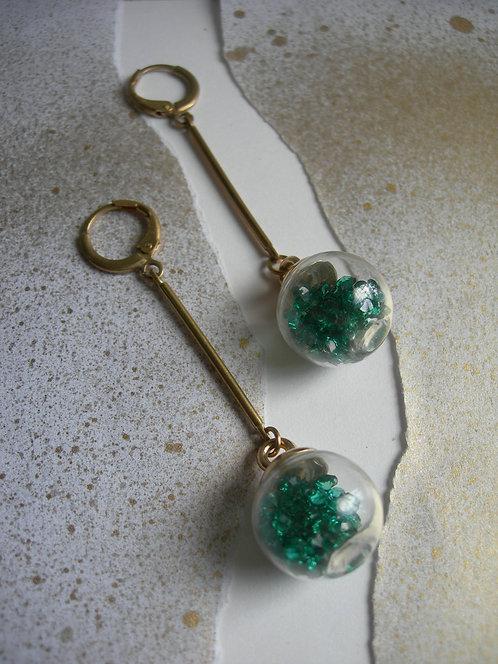 Candy earrings. Emerald Green