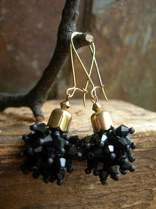Dandelion earrings. Black