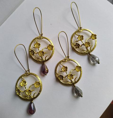 Sakura earrings.