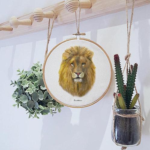Bastidor Decoración León Adulto