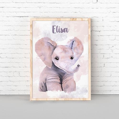 Lámina Elefante