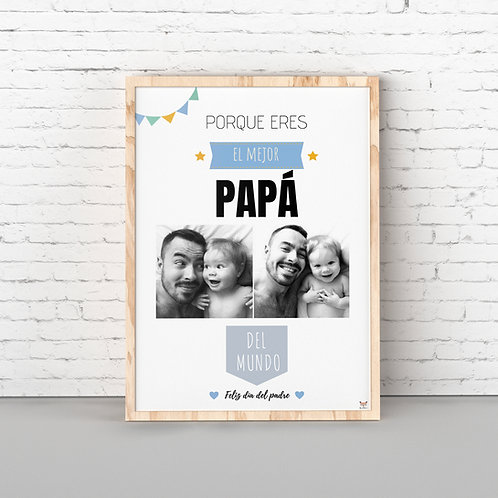 """Lámina """"El mejor Papá"""""""