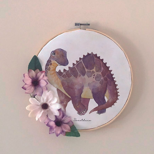Bastidor Decoración Dinosaurio