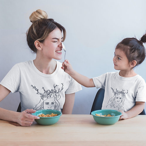 Retrato Minimalista + Camisetas