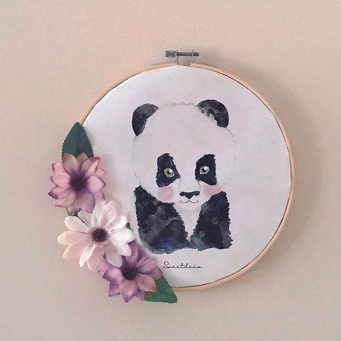 Bastidor Decoración Panda