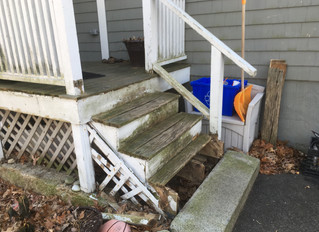 Before and After: New Steps to a Deck