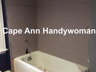 My Bath Tub Tile Reno - Day 2