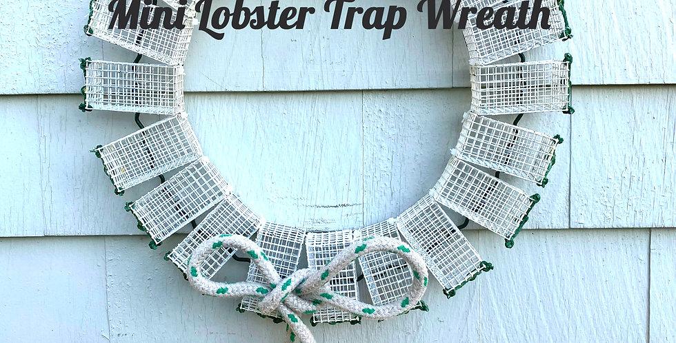White Mini Lobster Trap Wreath