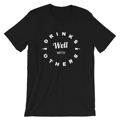 """Drinks Well With Others"" T-Shirt Blk"
