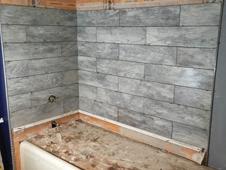 My Bath Tub Tile Reno - Day 3