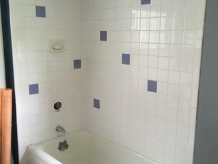 My Bathtub Tile Reno Day 1