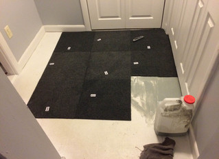 Installing Rug Tiles in 2 Rooms