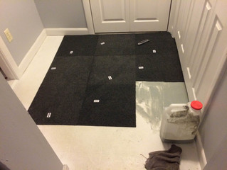 Installing Rug Tiles in 2 Rooms