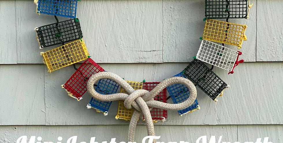 Mini Lobster Trap Wreath -MULTI