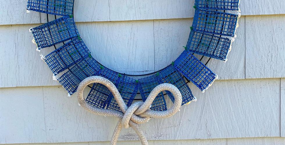 Blue Mini Lobster Trap Wreath