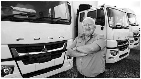 Fuso trucks New Zealand by Auckland photographer Kirk Vogel
